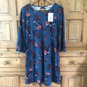NWT Small Pink Rose Vintage Dress Floral
